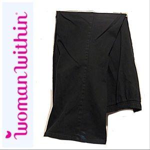 a11baf9780a930 Woman Within Jeans - 🆕 EUC Jeans-Boot Cut, Elastic waist, Black